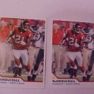 2  ATLANTA FALCONS DeANGELO HALL FOOTBALL TRADING CARD