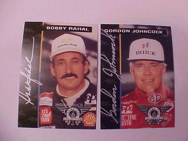 1994 GORDON JOHNCOCK BOBBY RAHAL INDY 500 TRADING CARD