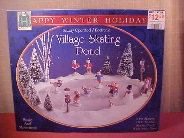 HAPPY WINTER HOLIDAY VILLAGE SKATING POUND ELECTRONIC (SOLD)