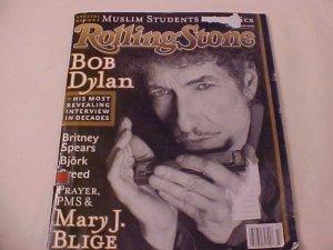 2001 ROLLING STONE MAGAZINE BOB DYLAN