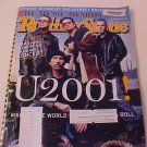 2001 ROLLING STONE MAGAZINE MUSIC AWARDS ISSUE U2001