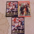 LOT OF 3 FOOTBALL TRADING CARDS CARDINALS  EAGLES