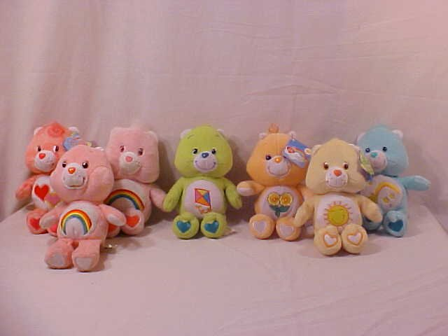 LOT OF 7 SPECIAL EDITION CARE BEARS (SOLD)