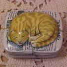 Vintage The Times Pill Trinket Box