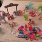 MY LITTLE PONY LOT OF 12 PONY AND ACCESSORIES