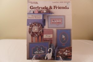 1986 LEISURE ARTS CROSS STITCH BOOK GERTRUDE AND FRIENDS #468