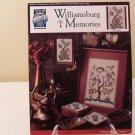1992 TRUE COLORS CROSS STITCH WILLIAMSBURY MEMORIES
