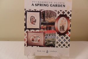 PUCKERBRUSH PLANTS A SPRING GARDEN COUNTED CROSS STITCH