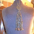 VINTAGE BEADED TASSEL NECKLESS