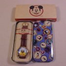 VINTAGE DISNEY DONALD DUCK WRIST WATCH WITH TIN