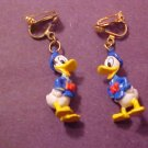 VINTAGE DISNEY DONALD DUCK CLIP-ON EARRINGS