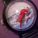 VINTAGE SPORTS BUBBLE SNOW SKING WATCH