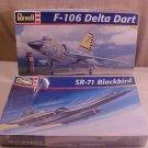LOT OF 2 MODEL AIRPLANE KITS BLACKBIRD & F-106 DELTA