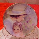 1997 AVON TENDER MOMENTS MOTHER'S DAY PLATE 22K GOLD