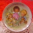 1983 AVON LOVE IS A SONG MOTHER'S DAY PLATE GOLD TRIM