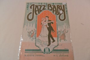 JAZZ Baby 1919 Sheet Music CUTE Barbelle Dancing Cover!