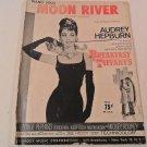 """AUDREY HEPBURN 1961 """"MOON RIVER"""" MUSIC SHEET"""