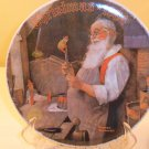 CHRISTMAS 1984 PLATE Santa in Workshop Norman Rockwell