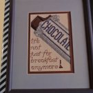 CROSS STITCH PATTERN CHOCOLATE
