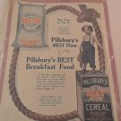 1908 AD PILLSBURY'S BEST FLOUR AD AND BREAKFAST FOOD