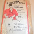 "BEIGE COVERED SHOULDER PADS 1/2"" THICK PAD 1 PAIR"