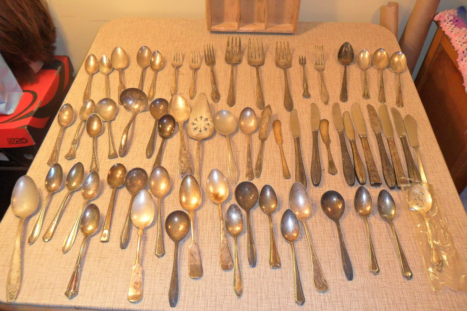 Silverplate Vintage Flatware mixed Lot Silverware 60 Pc Craft (SOLD)