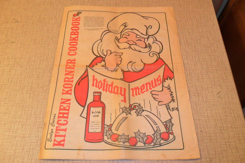 1975 Evelyn Cairns Kitchen Korner Cookbook Mellus Newspaper