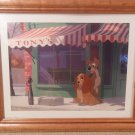 Disney Lady & Tramp AT Tonys Dog Lithograph