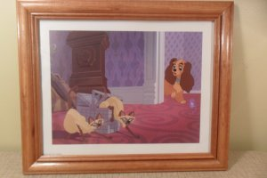 DISNEY'S LADY AND THE TRAMP LITHOGRAPHS 1999
