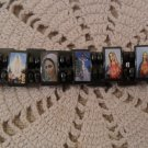 Magnetic Hematite Jesus Mary Angel Bracelet