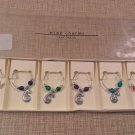 NIB Pier 1 imports Jewel wine charms set of 6