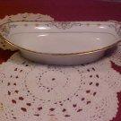 Noritake Wellesley rose pattern Pat. #68476 oval relish or dessert bowl