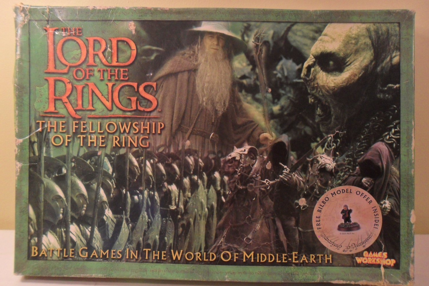 2001 The Lord Of The Rings Board Game The Fellowship of the Ring complete