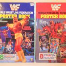 Lot Of 2 1991 WWF World Wrestling Federation Poster Book (RARE)