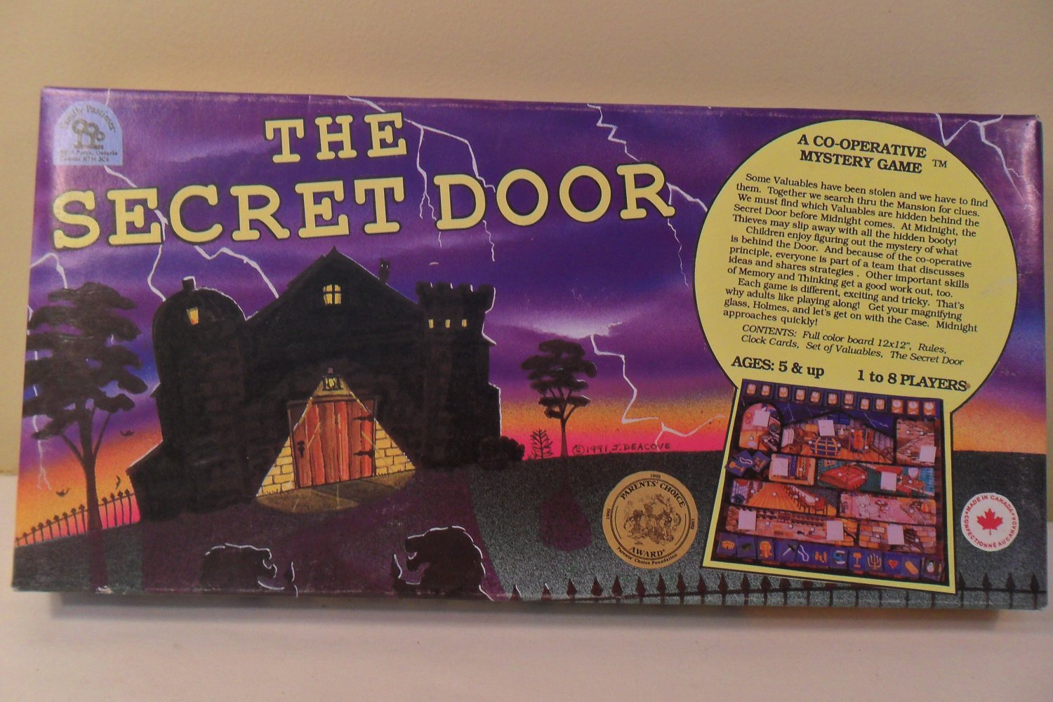 1991 The Secret Door Co-Operative Mystery Game Family Pastimes COMPLETE
