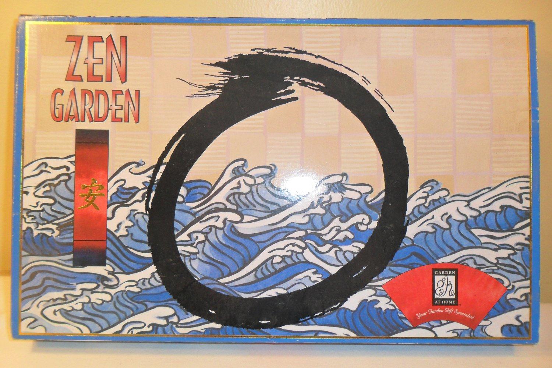 MIB TABLETOP JAPANESE ZEN ROCK GARDEN W/ Rakes, Sand, Rocks (SOLD)