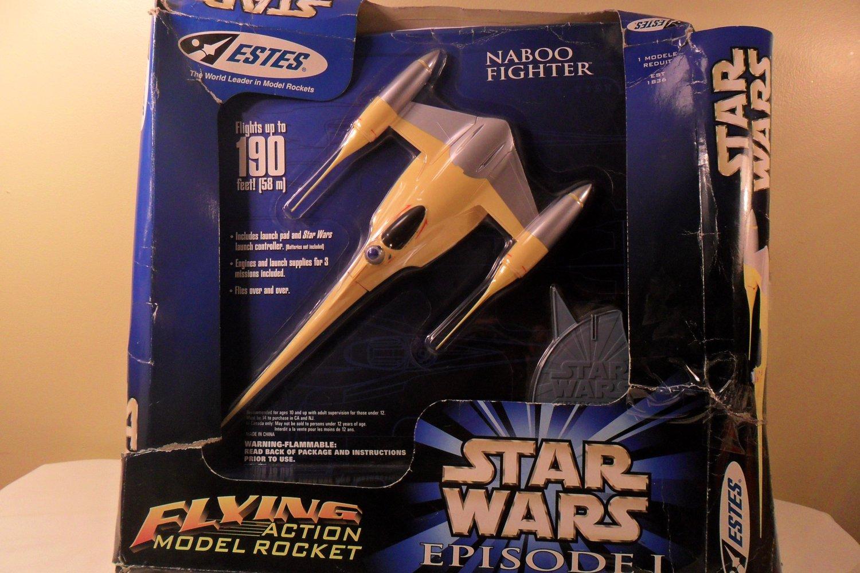 1998 Estes Star wars Episode I Flying Action Model Rocket Naboo Fighter (SOLD)