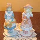 Set of 2 Vintage Girl figurines made in Philippines