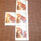 Set of 4 10 CENT US BICENTENNIAL BUNKER HILL 1775 BY TRUMBULL POSTAGE