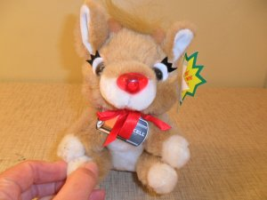 1993 Duracell Rudolph's plus light up nose toy