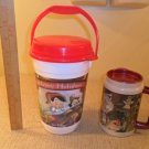 Walt Disney World set of 2 1997 Pinocchio Happy Holidays Thermos