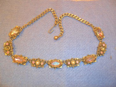 Vintage TARA rhinestone Choker Necklace - Multi-color
