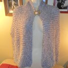 Handmade Knit Gorgeous shawl scarf wrap For Women with Vintage Brooch/Pin