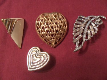 Lot of Vintage brooch pendent earring great for crafter