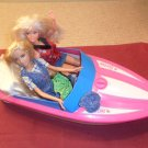 vintage barbie speed motor boat motorized pink 1998