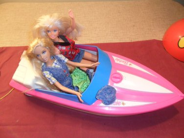 vintage barbie speed motor boat motorized pink 1998