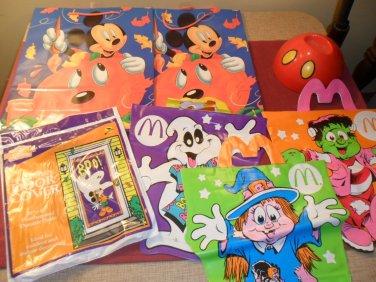 Lot of Halloween gift bags, Door Cover, trick or treat bags