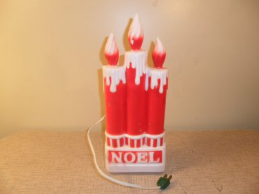 1970's Vintage lighted Christmas Candles Blow Mold