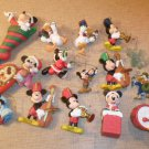 Lot of 16 Vintage 1990's Disney Christmas Ornaments