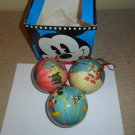 1980's Vintage Lot of 3 Disney Christmas Ornaments